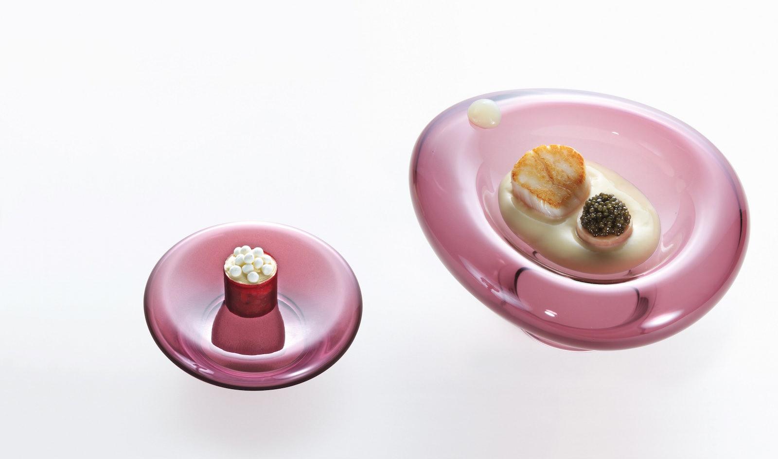 Jakobsmuschel mit Kaviar